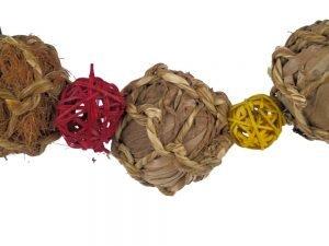 Ball garland close up